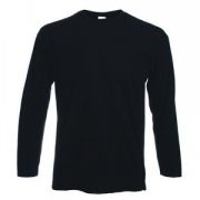 "Футболка ""Valueweight Long Sleeve T"", черный_XL, 100% х/б, 165 г/м2"